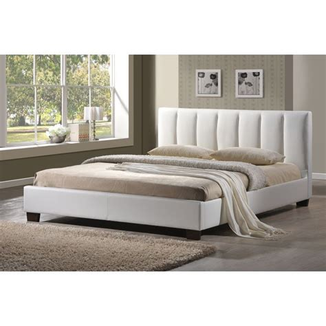 white queen size bed frame white leather queen size bed frame home design ideas