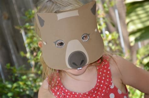 printable wombat mask top 20 kindergarten teaching ideas to try right now