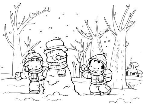 imagenes de invierno infantiles para colorear estaciones del a 241 o fichas para trabajar el invierno