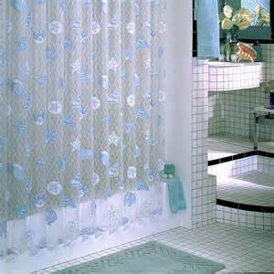 Seaside Shower Curtains Ex Cell Vinyl Seaside Shower Curtain Ebay