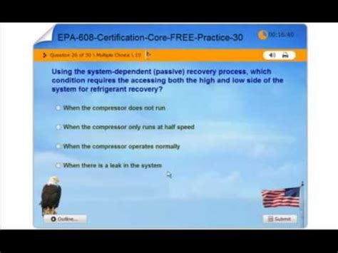 epa section 608 test answers free certification free epa 608 certification practice test