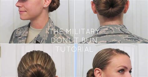 navy female haircuts aunie sauce the military donut bun