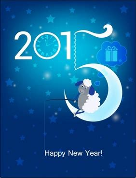 fish on new year new year card theme happy new year 2015 original