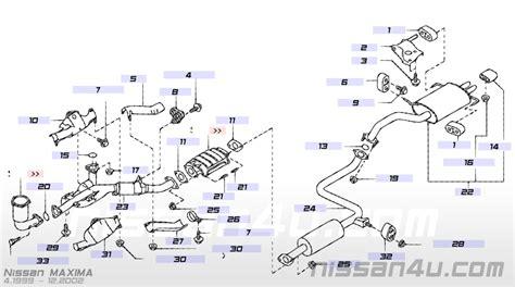 1998 nissan maxima exhaust system diagram 2001 nissan maxima exhaust system diagram