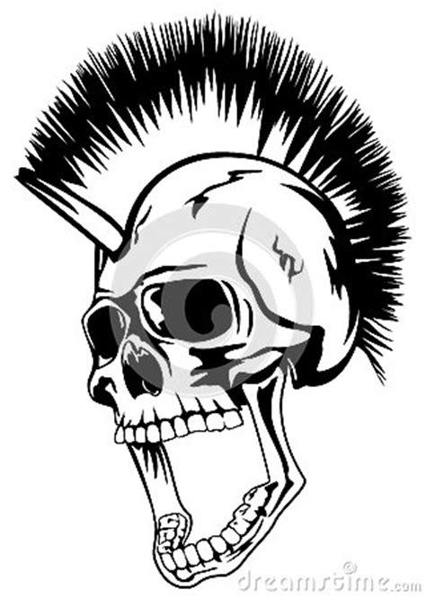 head punk skull stock  image