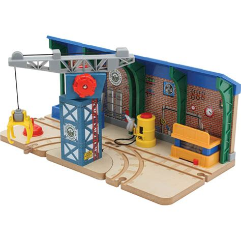 Sodor Steamworks Repair Shed by Repair And Go Station At The Sodor Steamworks The Toyworks