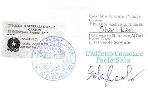 consolato spagnolo bari legalizzazione e asseverazione cosa sono cinaliano
