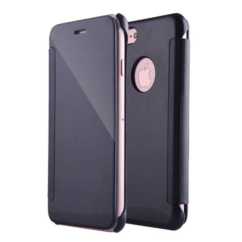 Iphone 7 Mirror apple iphone 7 plus flip cover mirror black