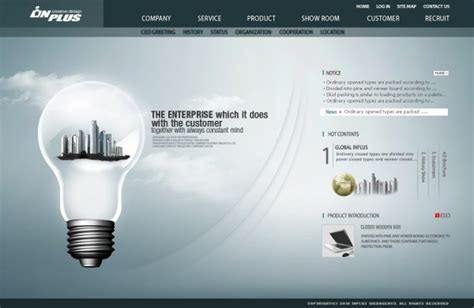theme with page templates technology energy saving theme page templates psd free
