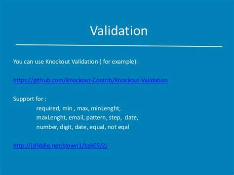 pattern validation in knockout fundaments of knockout js
