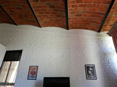 Brick Ceiling Tiles by Beautiful Brick Ceilings Plus The Tile Trim On The White