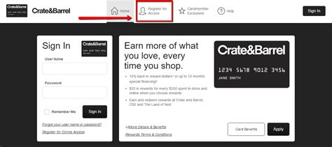 make a payment on credit card crate and barrel credit card login make a payment