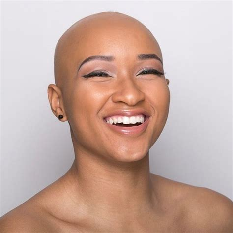 what styles is good for woman balding head 19 stunning black women whose bald heads will leave you