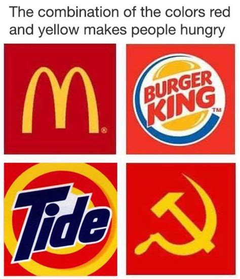 what color makes you hungry the combination of the colors and yellow makes