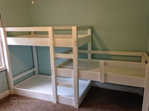 triple bed triple bunk bed merzke custom woodworking