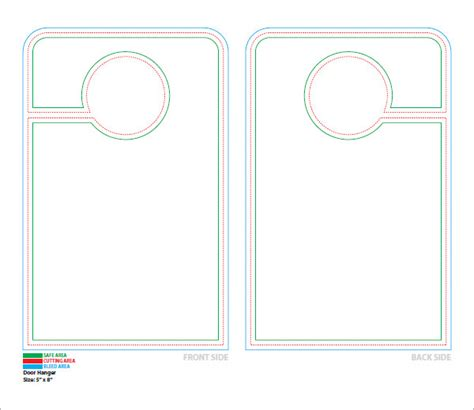 14 door hanger templates