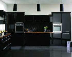 black gloss kitchen ideas 15 astonishing black kitchen cabinets home design lover