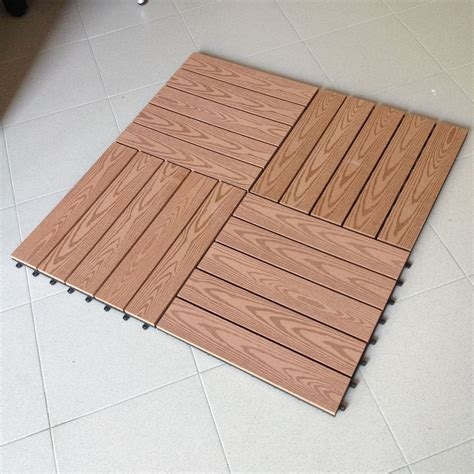 pavimenti mattonelle n 176 6 mattonelle per pavimento in wpc cm 40x40 legno
