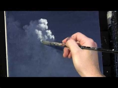 acrylic painting sky tutorial moonlit sky clouds acrylic painting lesson available