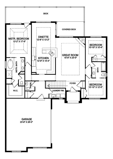 single story open floor plans one story 3 bedroom 2 1 story open floor home plans