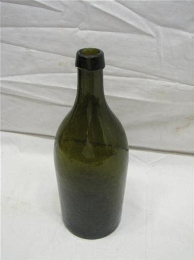 antique carlsbad ls bitters olive green glass