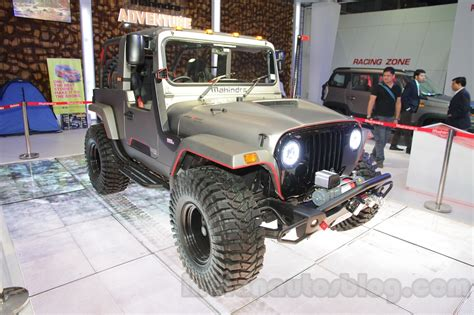 mahindra jeep 2016 auto expo 2016 modified mahindra thar on display car