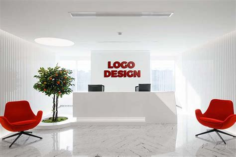 mockup  logo  artwork   office interiors
