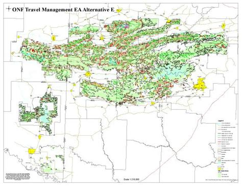 ouachita national forest map ouachita national forest designated use roads to be