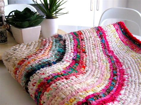how to crochet a rag rug rag rug pattern a colourful crochet rag rug with recycled fabrics