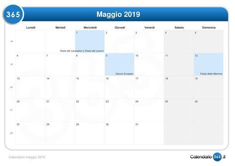 Calendario 2019 Maggio Calendario Maggio 2019