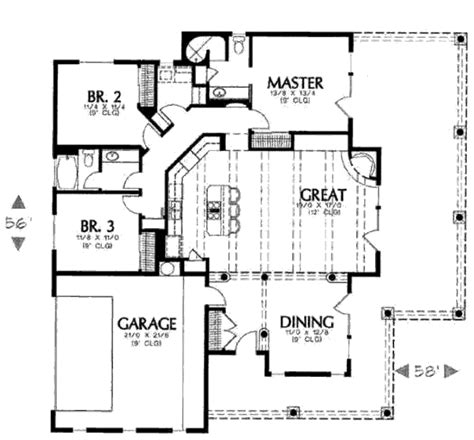Adobe Floor Plans Adobe Southwestern Style House Plan 3 Beds 2 Baths 1684 Sq Ft Plan 4 103