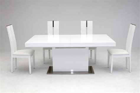 modrest zenith modern white extendable dining table