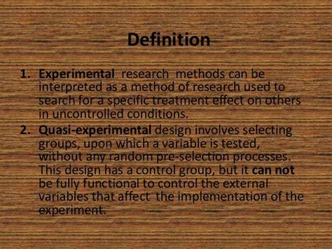 quasi design meaning experimental and quasi experimental research
