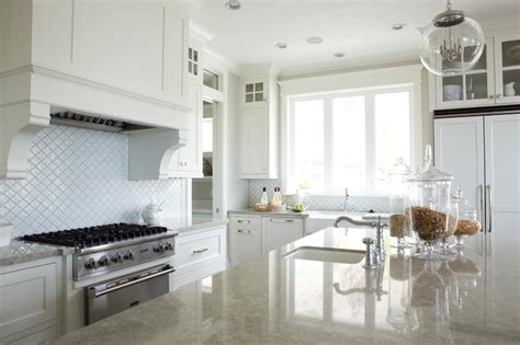 Clear Glass Kitchen Canisters Gray Granite Countertops Transitional Kitchen Davies