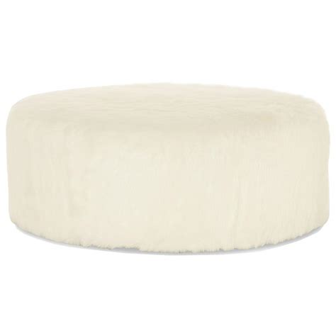 white faux fur ottoman eveline hollywood regency white faux fur round ottoman