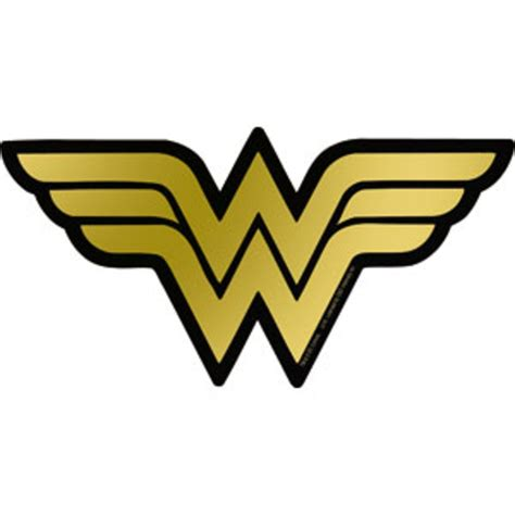 Wonder Woman Home Decor wonder woman logo gold foil sticker