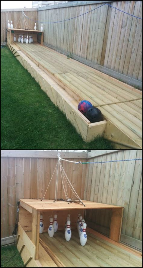 diy backyard bowling alley build a backyard bowling alley
