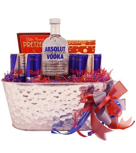 energy drink gift basket build a basket absolut vodka and bull snack gift basket