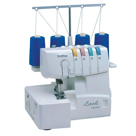 brother serger sewing machine with easy lay in threading 1034d the home depot