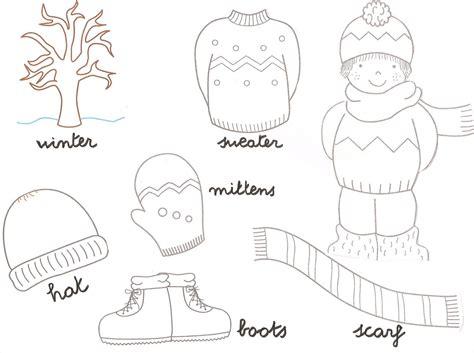 imagenes invierno para pintar dibujos de ropa de invierno en ingles para aprender