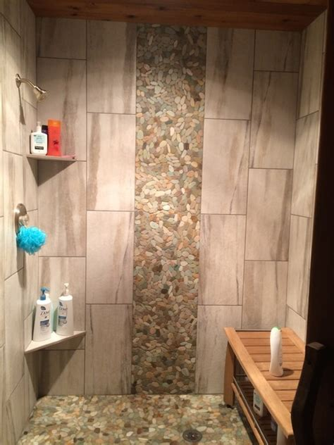 Kitchen Artwork Ideas tile shower waterfall