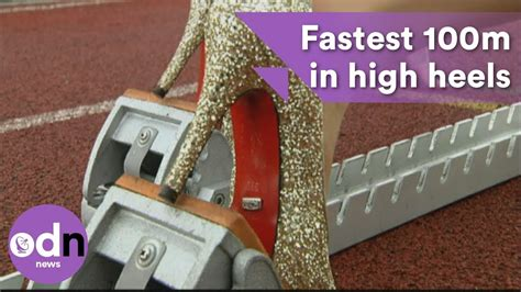 in and high heels fastest 100m in high heels in guinness world record
