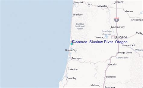 Tide Tables Florence Oregon by Florence Siuslaw River Oregon Tide Station Location Guide