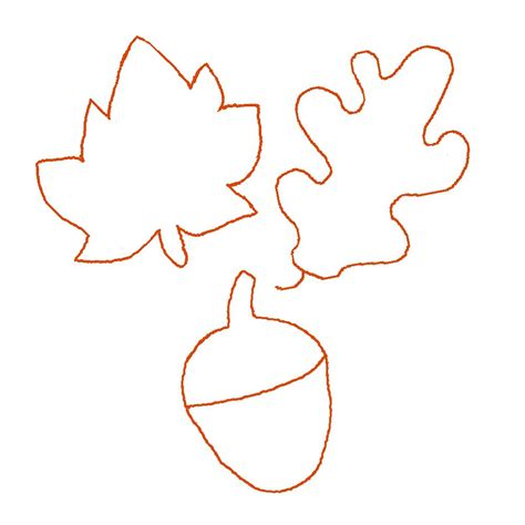 fall templates autumn leaf stencil clipart best