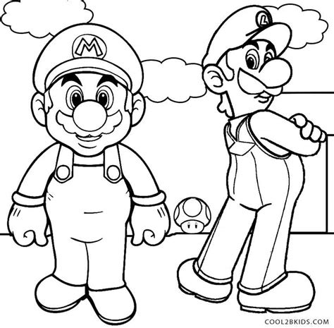 coloring page mario and luigi printable luigi coloring pages for kids cool2bkids