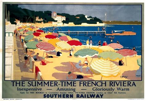cannes riviera vintage travel poster of vintage travel posters