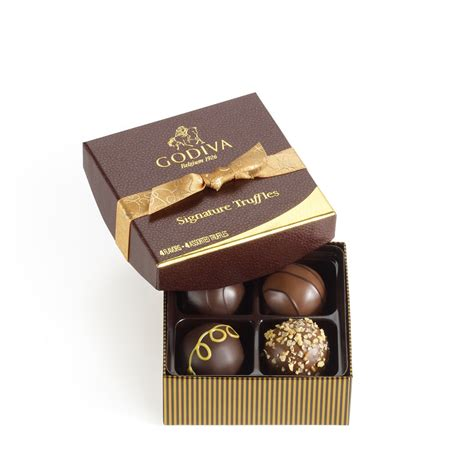 godiva chocolate 4 pc signature chocolate truffles classic godiva