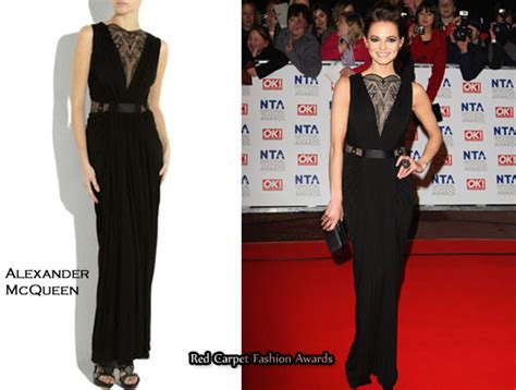 In Closet Mcqueen Carpet Fashion Awards by In Kara Tointon S Closet Mcqueen Lace Detail