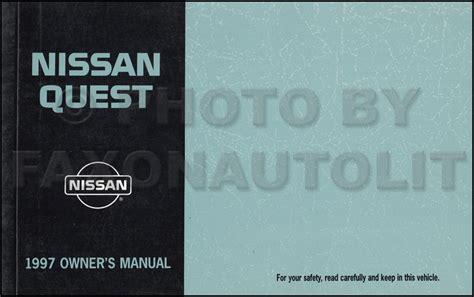 automotive repair manual 1997 nissan quest free book repair manuals 1997 nissan quest van repair shop manual original