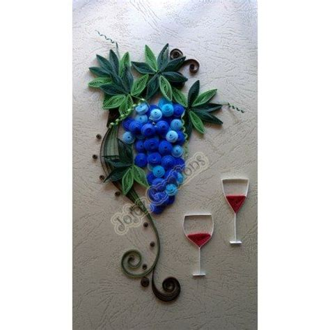 quilling home decor quilled grapes vine wall art hanging framed home decor